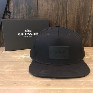 NWT Authentic Coach Solid Flat Brim Hat